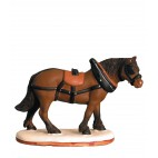 Santon Cheval de trait Collection 7cm