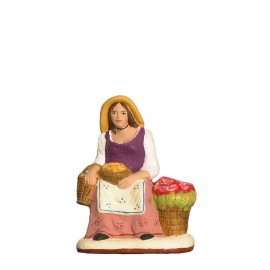 Santon Fleuriste assise Collection 7cm